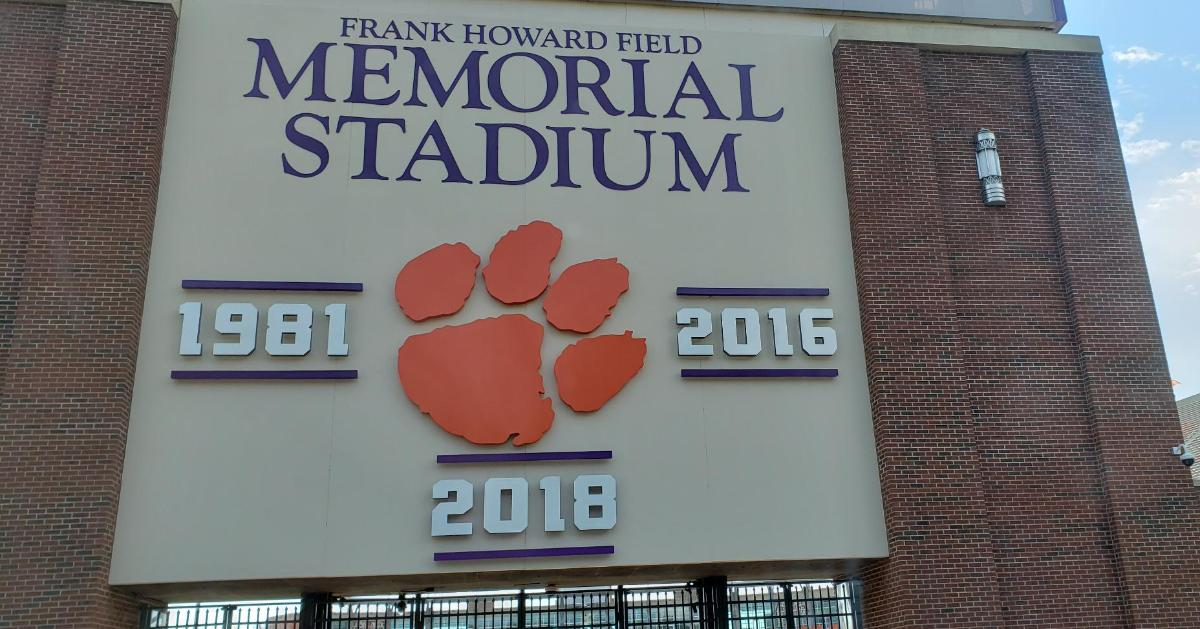 Clemson Adds Signage For 2018 National Championship To Memorial Stadium