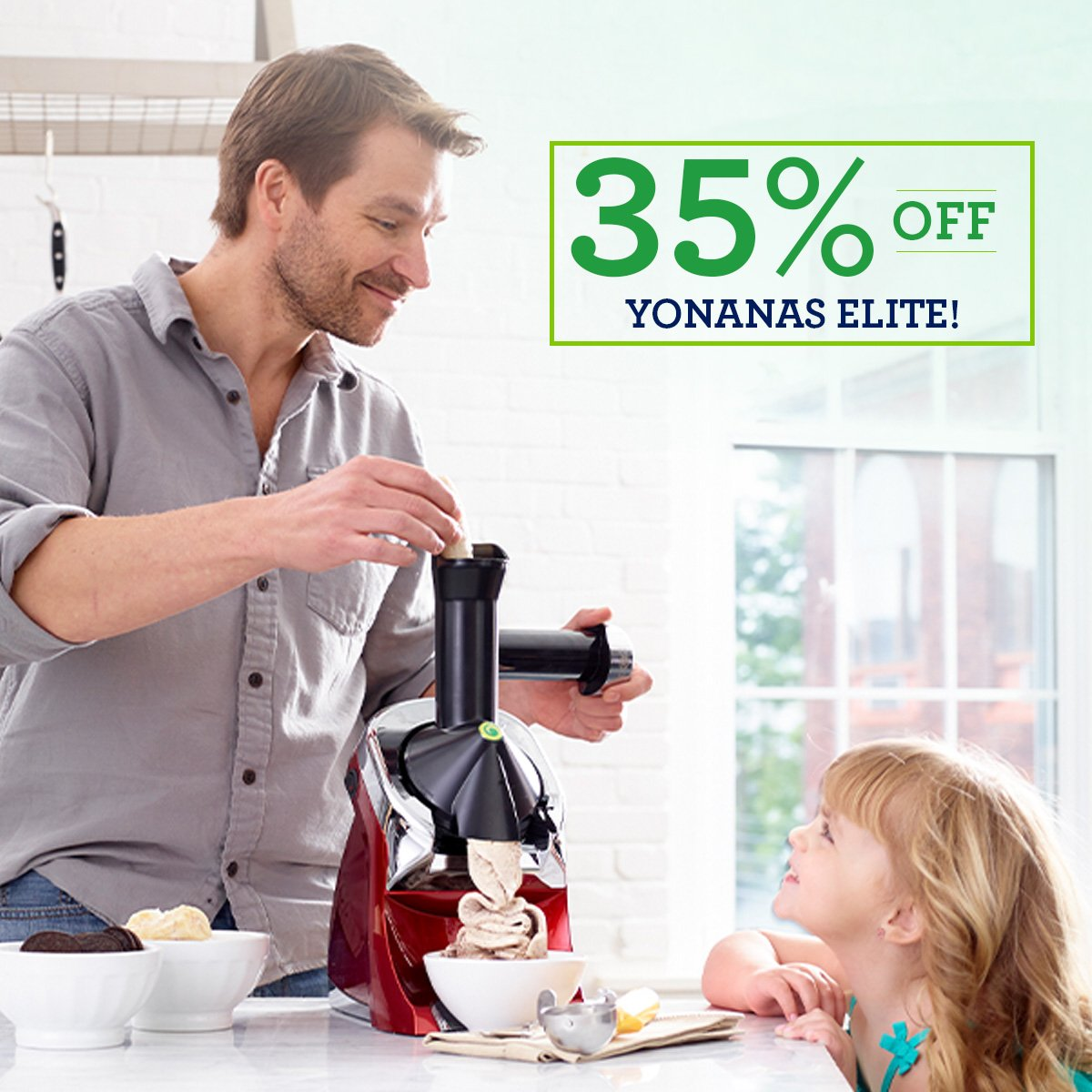 Yonanas Elite whips FRUIT into a creamy, soft-serve that you'll swear is ice cream. Fast, easy, delicious & healthy!   For a limited time, save 35% + Free Shipping* with code ELITE35 Shop now>> https://t.co/mZT7OI6AHK https://t.co/vGttFaT20F