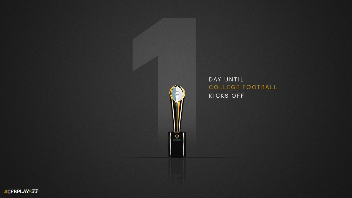 One. More. Day. #CFBPlayoff 🏈🏆