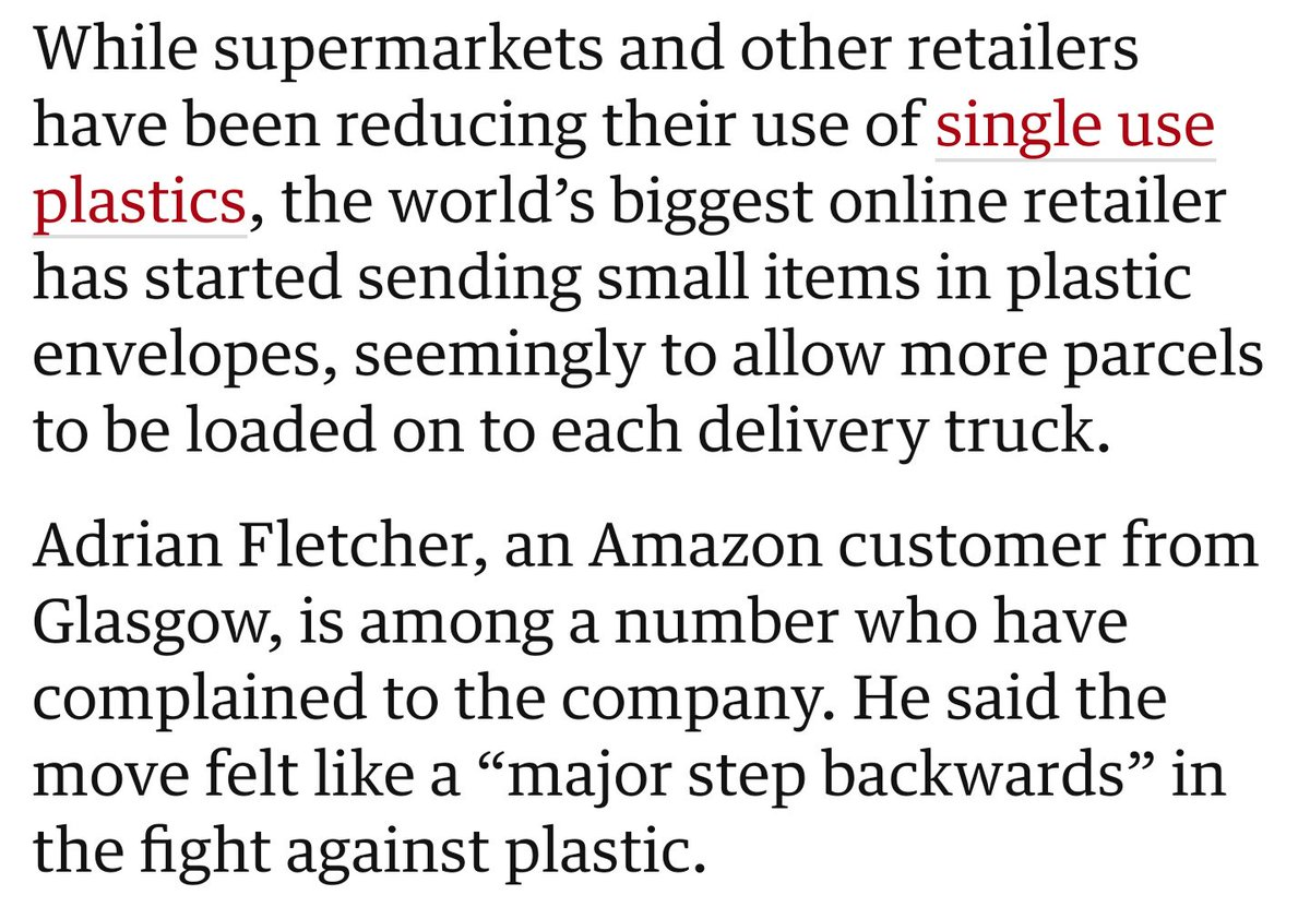 Maybe Jeff Bezos, CEO of Amazon, could commit to recyclable packaging (their new packaging is plastic) & perhaps donate to protection initiatives in the Amazon Rainforest that he used as inspiration for his company. You know, since it's been on fire for 3 weeks? #AmazonRainforest<br>http://pic.twitter.com/xHY8tvQ6dI