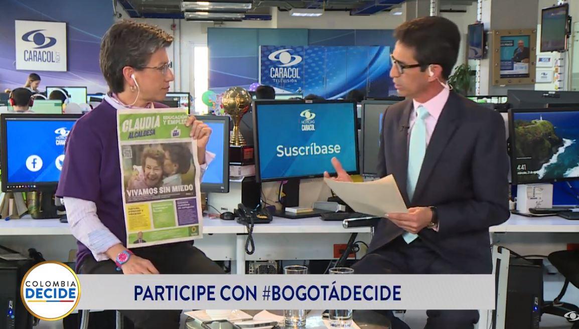 ¿Qué propone @ClaudiaLopez en materia de seguridad para la capital? Conéctese con la señal en vivo de #BogotáDecide  EN VIVO desde Facebook >>> https://buff.ly/2zb7sR3EN VIVO desde YouTube >>> https://buff.ly/2PaDE1y