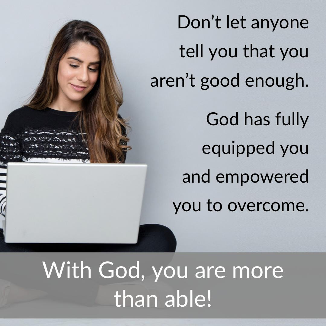 With God, you are more than able.<br>http://pic.twitter.com/iE6bgLhxm9