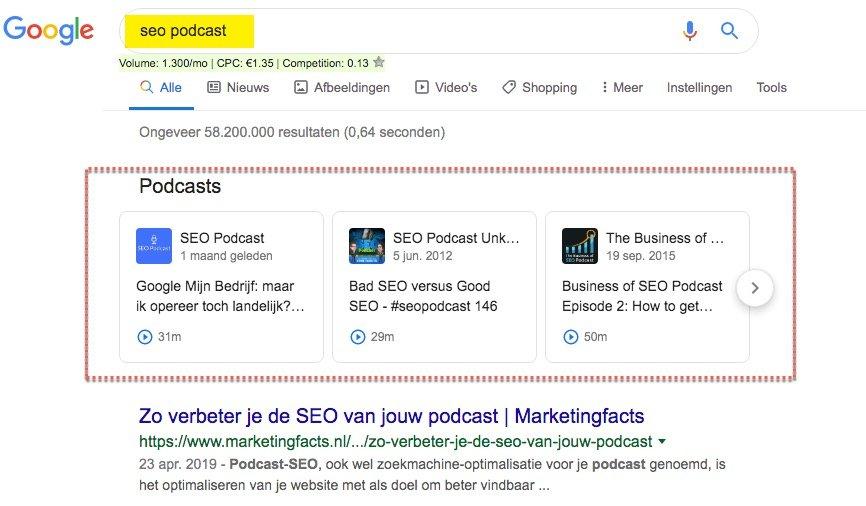 test Twitter Media - Podcasts zijn nu ook in Nederland rechtstreeks vindbaar en afspeelbaar vanuit de Google zoekresultaten.  Zoals deze SEO Podcast van collega's Michiel Brand & Rutger Steenbergen. (Zeker de moeite waard om eens te beluisteren!)  #SEO #Podcast #Zwolle https://t.co/TmuZsSLv3v