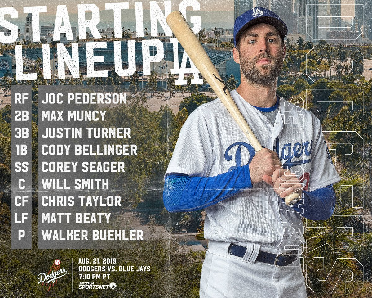 This is your #Dodgers starting lineup for Game 2 vs. Toronto.<br>http://pic.twitter.com/yv98PGm8se