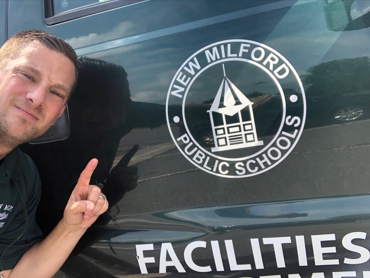 Nice ride today.. Thank you NMPS Facilities for all you did this summer & each year; your hard work directly supports our students! # 1 in my book. #newmilford