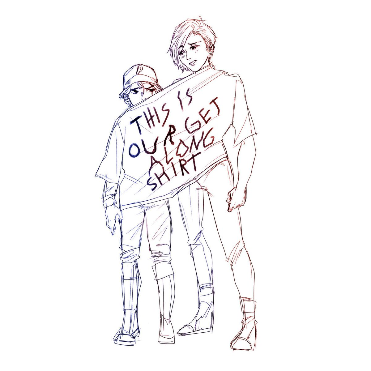 I got to write a bunch of Minnie in ep 3 (and some in ep 4!) of #TWDG SO THIS IS MY FAVORITE.  art by @denkiJUNE  https:// denkijune.tumblr.com/post/184947920 251/thinking-about-their-height-difference-and-get   … <br>http://pic.twitter.com/rRiIuZjD3E