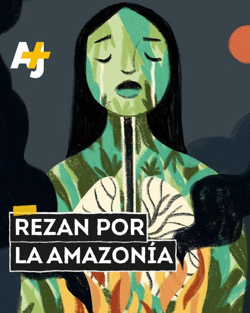 El presidente de Brasil, Jair Bolsonaro, culpó a las ONG de los incendios de la Amazonía.La gente expresa su indignación en #PrayForAmazonia.¿Qué crees que debería hacer el presidente de Brasil para proteger al pulmón del mundo?