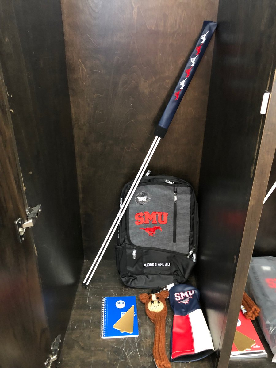 It's the time of the year for gear! Bit by bit, their lockers will fill with it. Thanks to @pxg for the sweet backpacks! The team will love them and the beautiful work @sunfishgolf did, too. #ChristmasinAugust #moretocome #PonyUp<br>http://pic.twitter.com/Mvs0vktuMD