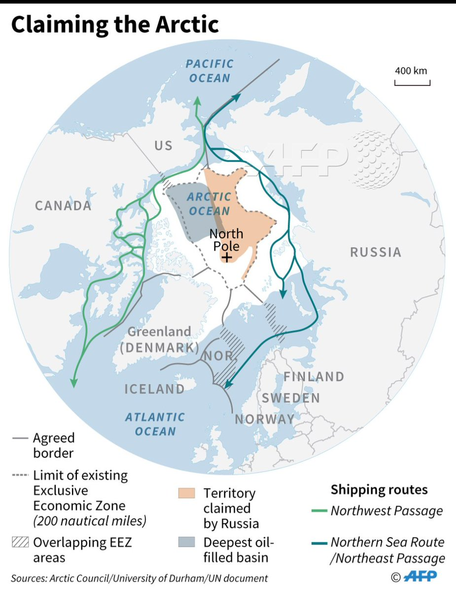 arctic territorial claims map Afp News Agency On Twitter Afp Map Of The Arctic Showing Agreed arctic territorial claims map