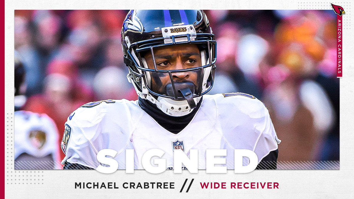 We have agreed to terms with WR Michael Crabtree on a one-year contract. DETAILS: bit.ly/CrabtreeSigned