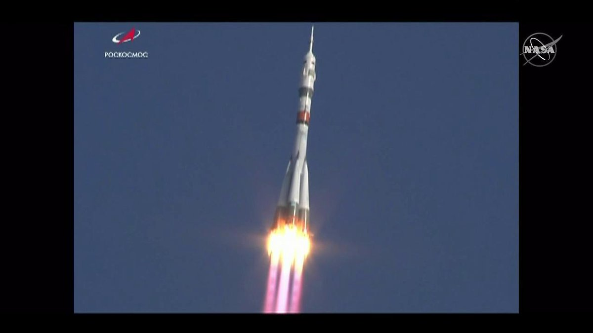 The Soyuz MS-14 spacecraft launched on a test flight at 11:38 pm ET. The Soyuz spacecraft will have an upgraded motion control and navigation system. #AskNASA | go.nasa.gov/2Nom2gf