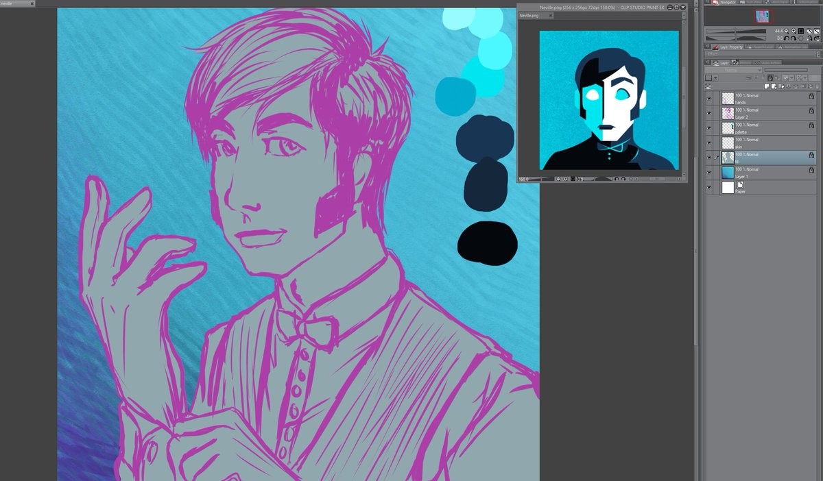 Got bit by the fanart (and, fic) bug thanks to Cultist Simulator. Already dumped more than 110 hours into that amazing game. And since the weather is behaving, I've felt well enough to do some art of everyone's favorite Knockboi, Neville. WIP, obviously https://t.co/1WGV2vcsuk