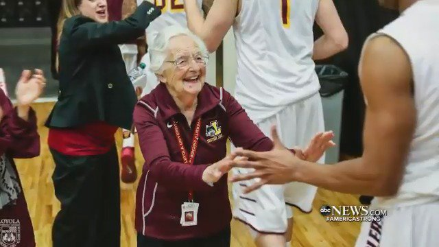 HAPPY BIRTHDAY! You first met Sister Jean when she became a lucky charm during the March Madness run in 2018 by the Loyola University Chicago Ramblers; now she's turning 100. @DavidMuir reports.#AmericaStrong https://abcn.ws/2zglXCU