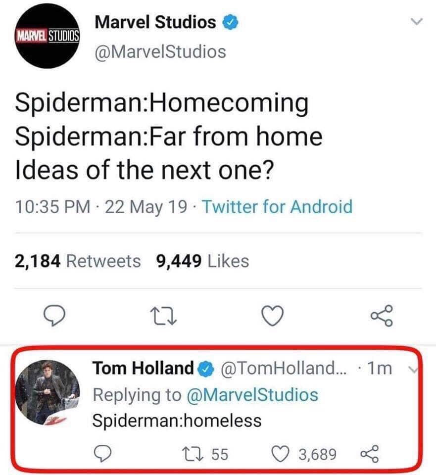 spidermanhomeless hashtag on Twitter