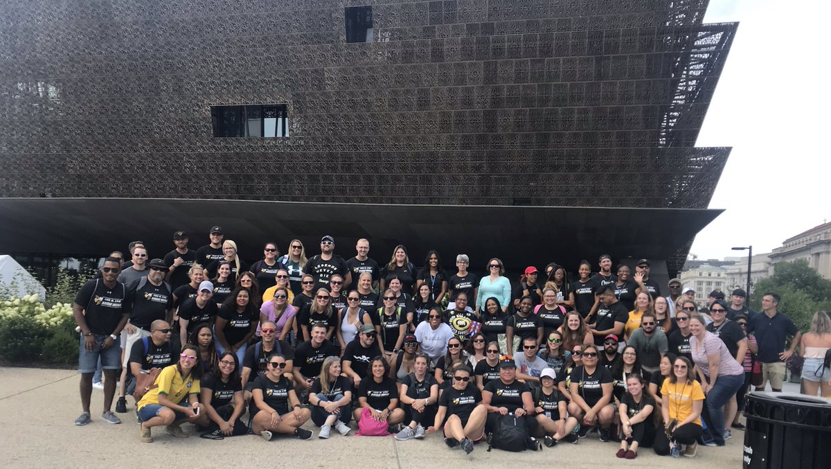 So moved! I want to do more, I want to stand for more, I want to fight for more! So inspired to be back with my staff, love them! We celebrated the first day back with a trip to DC & the National Museum of African American History & Culture, followed by IMAX- Apollo 11 #FLHornets<br>http://pic.twitter.com/ICiW2UlXKT