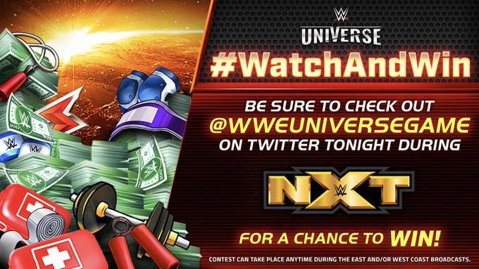 It's time for today's #WatchAndWin!  50 lucky fans that quote and RT this tweet with their WWE Universe username and the hashtags #WWENXT and #WatchAndWin before 9:00 PM ET will some in-game rewards!<br>http://pic.twitter.com/lV4ZYncItY
