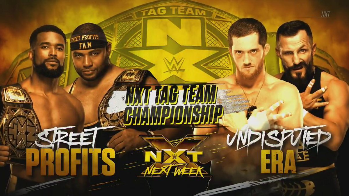 NEXT WEEK: The #TagTeamTitles are on the line... #WWENXT