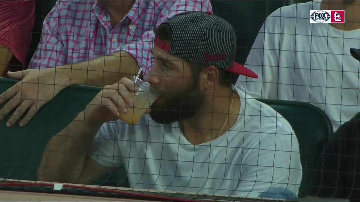 A Stanley Cup champ is in the house tonight! Looks like Pat Maroon is enjoying his summer. #TimeToFly | #stlblues | #TeamSTL