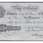 Image for the Tweet beginning: A £1,000 banknote from 1936