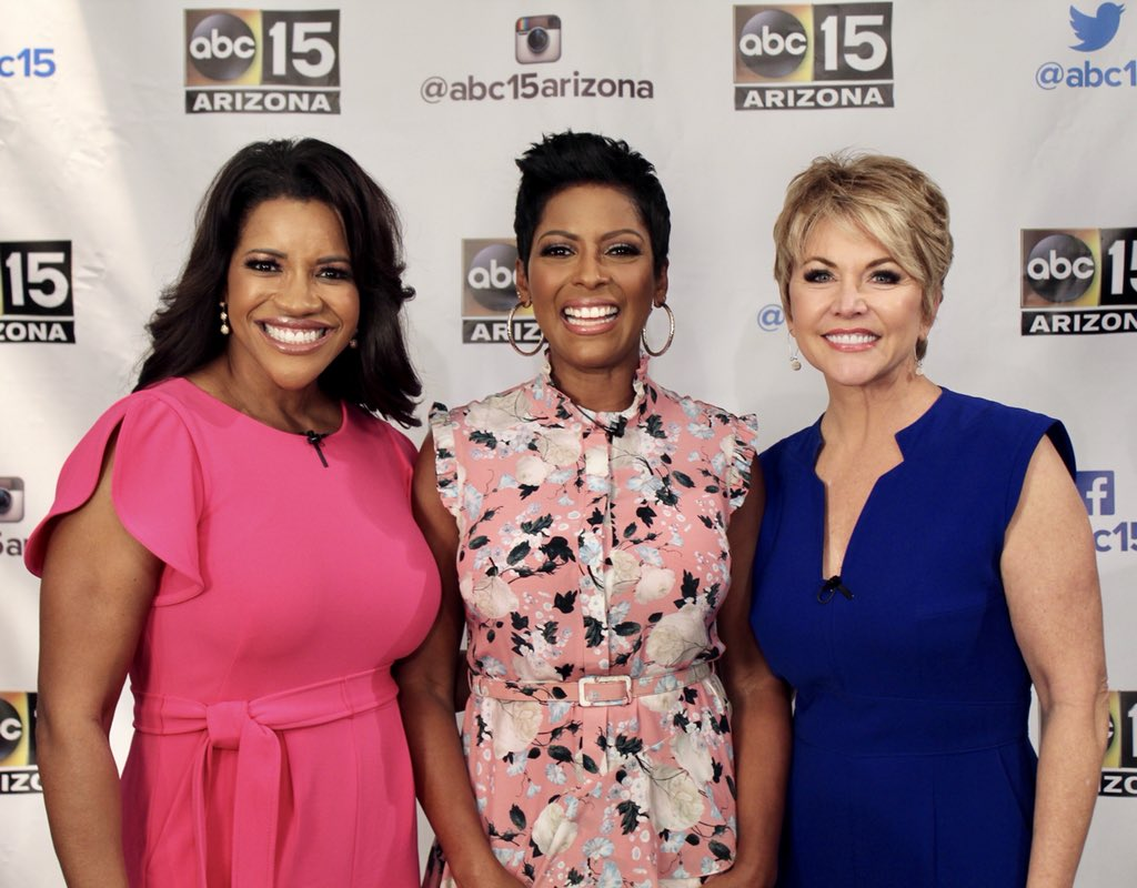 """Today ends the """"Tamron Hall"""" show tour! We ended it all in Phoenix at our friends @abc15. Thank you to every one along the way for your hospitality, kind words, and most of all your support. It's been fantastic! It's almost showtime... Are you ready for 9.9.19? — Team Tamron"""