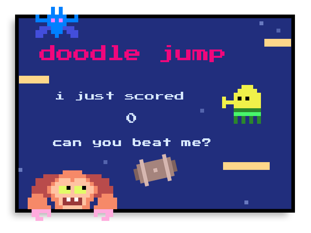 I just scored 0 on doodle jump! for android: https://t.co/VcyYSPBqhs for ios: https://t.co/ukk435YGOo for wp8+: https://t.co/mFRZFsy8nT https://t.co/UeQ1O1gvx0