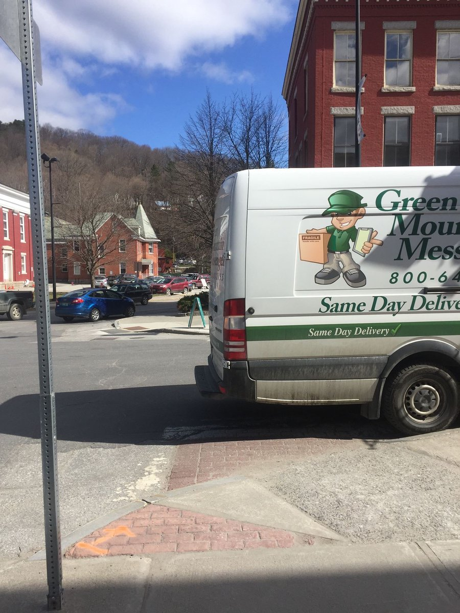 """#GreenMountainMessenger for when your package is so important, we just say """"fuck the crosswalk, we gotta delivery to make""""!    http://www. shipgmm.com /    @vtmontpelier #ParkingFail #ParkingFailBTV #YouParkLikeaMoron #YouParkLikeaMoronBTV <br>http://pic.twitter.com/hqnySc5Bbr"""