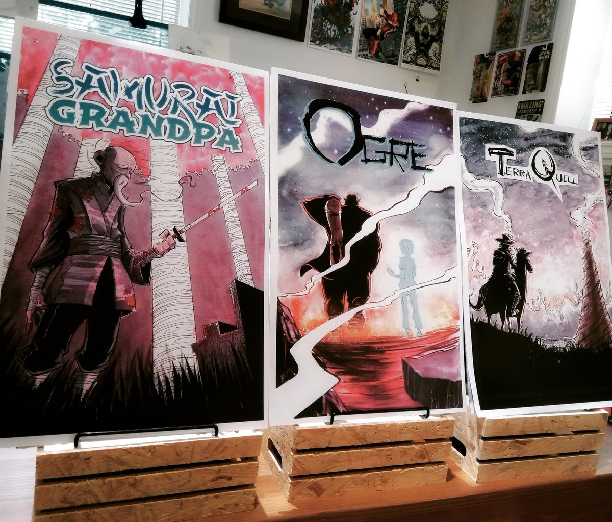 Fan Expo Canada is tomorrow! I'll be there all weekend at A456 with books, original art pages, sketches, and a small batch of 11x17 cover prints from the last few books. Also high fives. Lots of high fives. #makecomics @FANEXPOCANADA #FANEXPOCanada<br>http://pic.twitter.com/1jBZRvX7t3