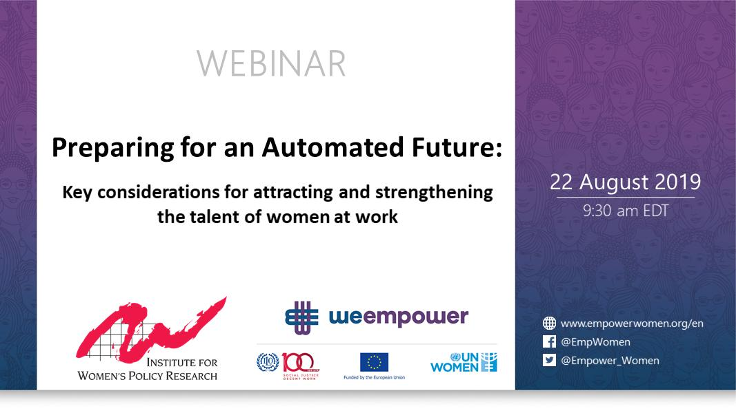 .@IWPResearch finds women in the US face a 41% earnings gap in returns on digital skills. Catch our @Empower_Women webinar to learn how women of all ages can prepare for an #AutomatedFuture on 22 Aug: unwo.men/fdI750vEJdF