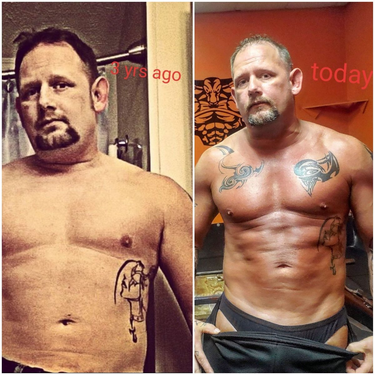 3yrs and today what a difference. #TransformationTuesday #fitness #fitover40 @MensHealthMag @menhealthystyle