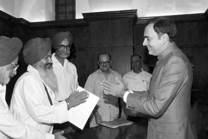 Amongst Rajiv Gandhi ji's many achievements were  the Punjab, Assam & Mizoram accords, that helped bring to an end years of conflict & violence. Built on a foundation of mutual respect, understanding & peaceful coexistence, these accords strengthened the Indian Union.#Rajiv75