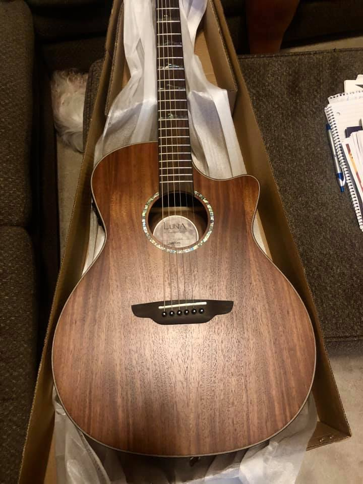 Came home to this tonight...HUGE thank you to @lunaguitars for this koa wood beauty! I am in love with it and feel like I'm back in the islands.  Thanks for going above and beyond when you didn't have to!  <br>http://pic.twitter.com/l9NZ6puVvl