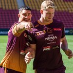 Image for the Tweet beginning: Captains Run ✅   Caption this!  #NRLBroncosSouths