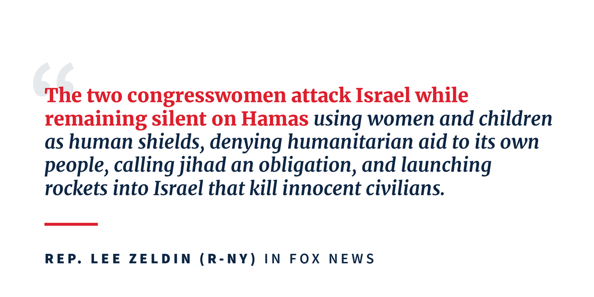 .@RepLeeZeldin: It is abundantly obvious that Tlaib and Omar are all about weakening Israel and the bond between our two nations. 45.wh.gov/8V3xFi