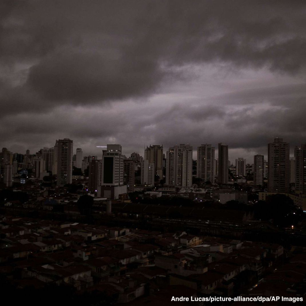 Record wildfires in Brazil's Amazon rainforest are so intense that smoke loomed over the city of Sao Paolo, more than 1,000 miles away, according to Greenpeace. http://abcn.ws/2zfBCCt