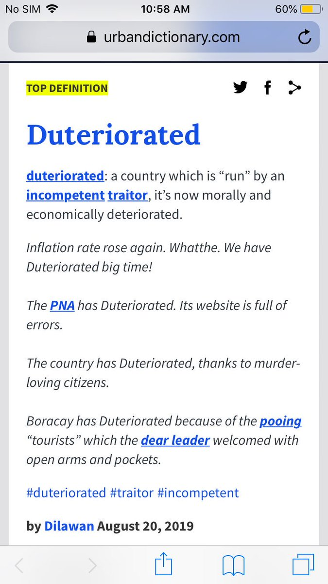 duteriorated hashtag on Twitter