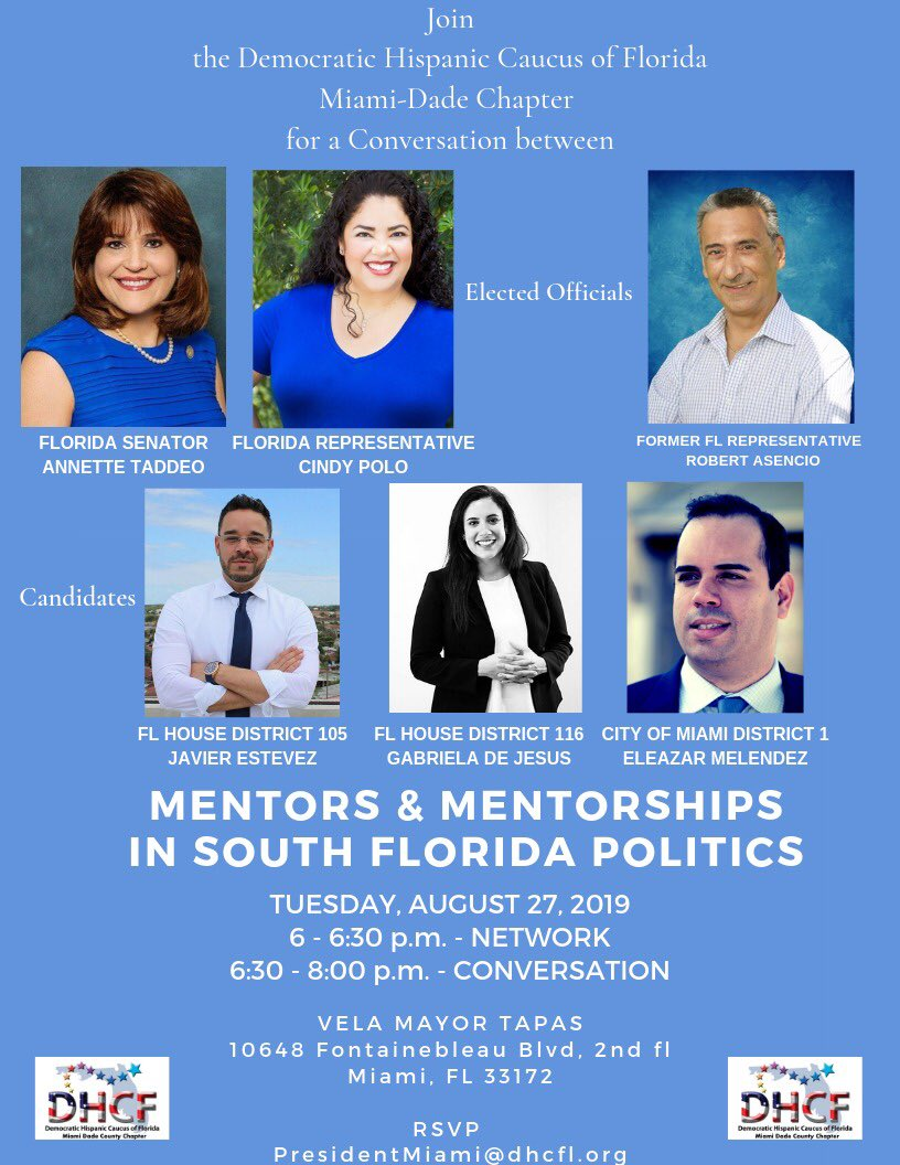 Great event for the Hispanic Caucus of Miami Dade! Get to know our elected officials and candidates. #bluewave 2020 @VamosDemocratas @Noemipbchc @PRDCMiami @EvelynPR @fldemhc @CindyPoloFL103 @Annette_Taddeo @EleazarMelendez @RepAsencio @Javier4Florida<br>http://pic.twitter.com/4ZBD9odH7I
