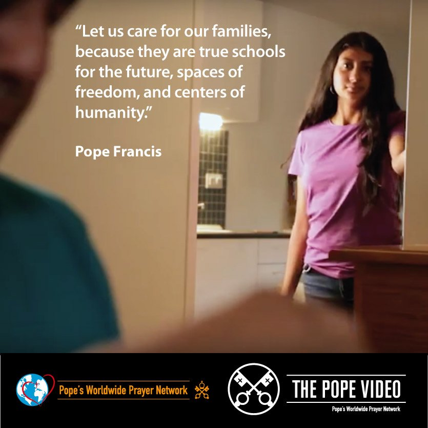 Families, @Pontifex reminds us, are the true schools of tomorrow. #Families #ThePopeVideo