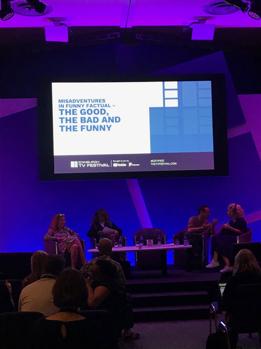 First up everything you need to know about funny factual right now at the #EdTVFest