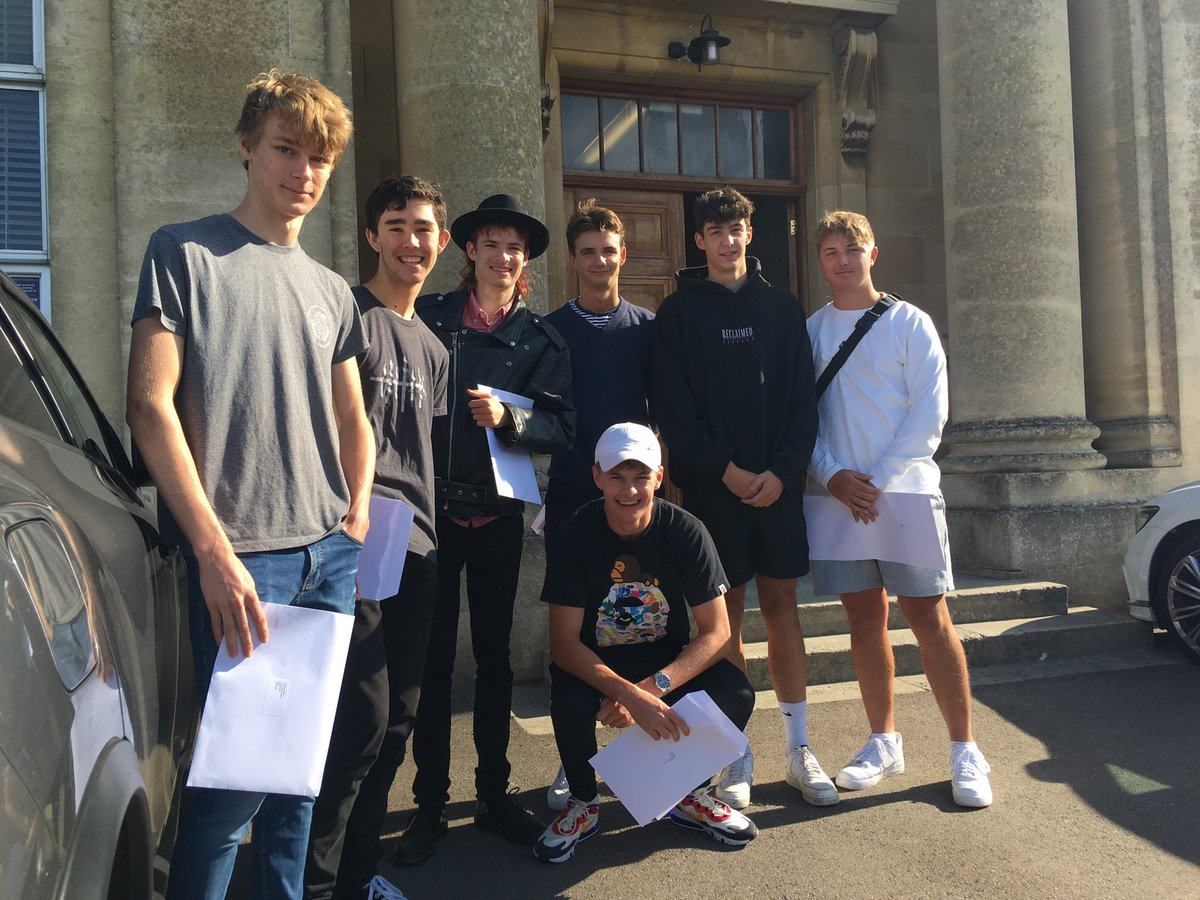 Some early smiling faces as the boys pick up their GCSE results.  An excellent crop this year! #thewaitisover