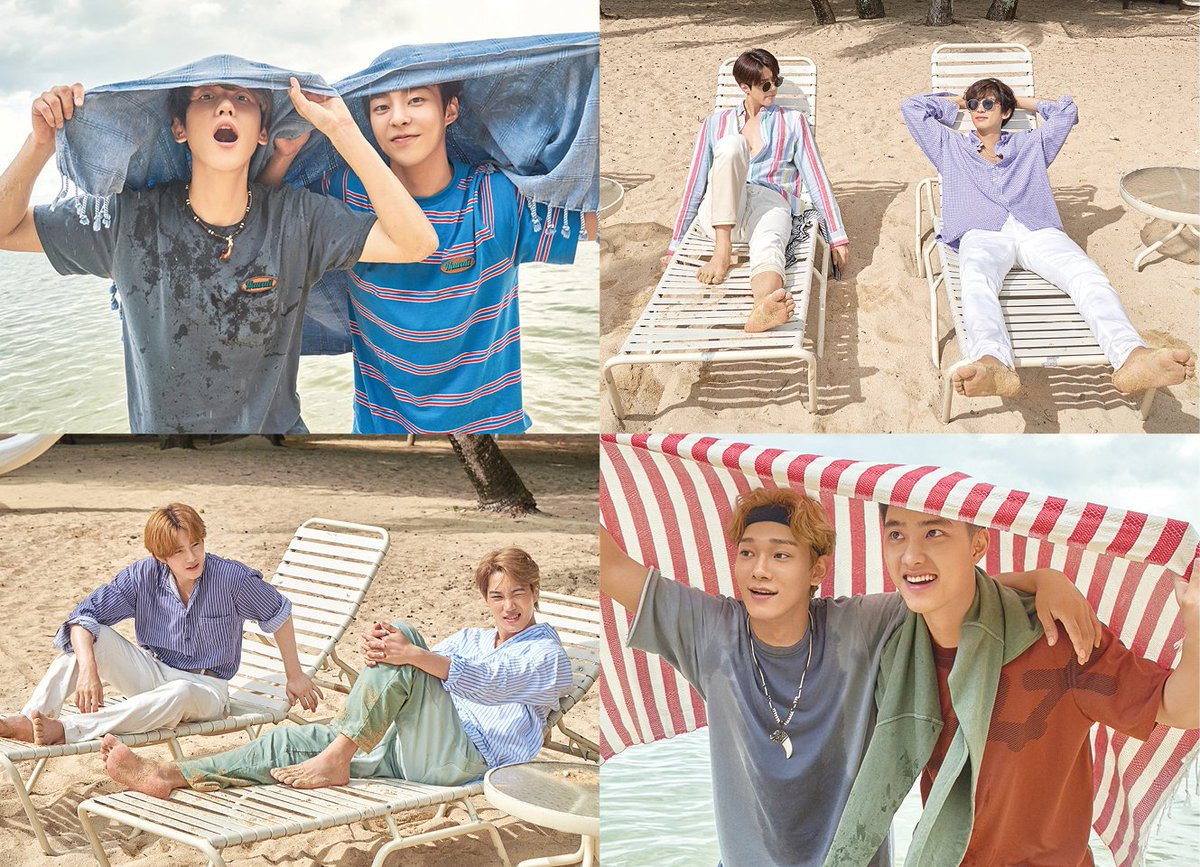 EXO to release their second photobook from Hawaii called 'PRESENT ; the moment' on Sept. 10, featuring photos of the members enjoying their 20s in various locations of the islands. @weareoneEXO #EXO<br>http://pic.twitter.com/26m9Ctdaps