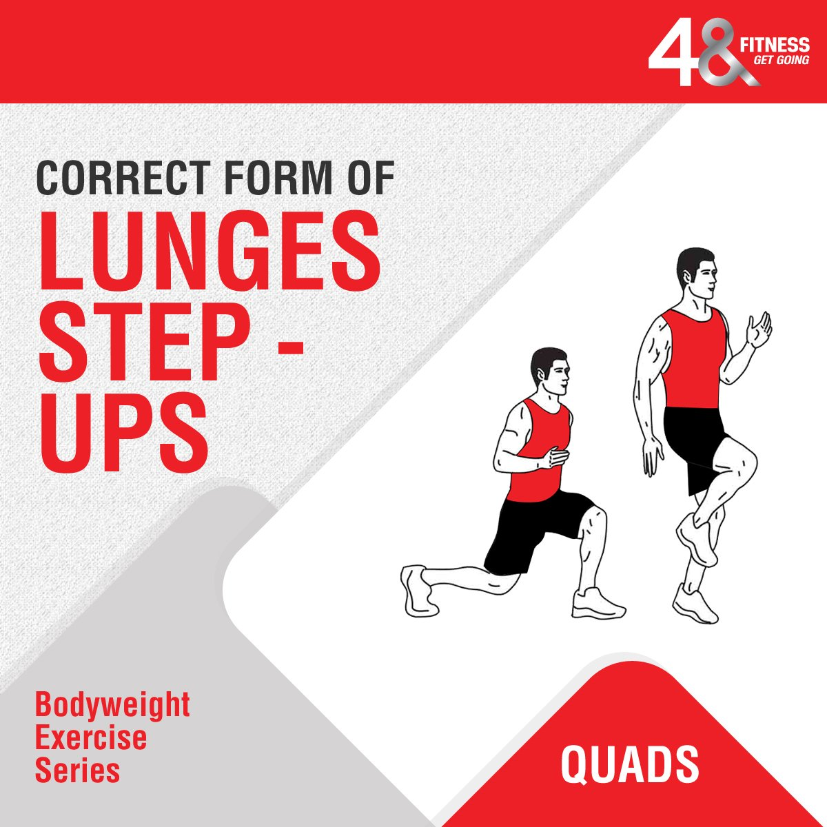 Give yourself a boost with an overall fitness regime and improve your strength too. Learn it from the experts available only at #48Fitness. . . . #fitIndia #lungesandsquats #lungesworkout #fitnessfam #fitnessjunkie #exercisemadeeasy #healthymindhealthybody<br>http://pic.twitter.com/JNPd0Bv2MD