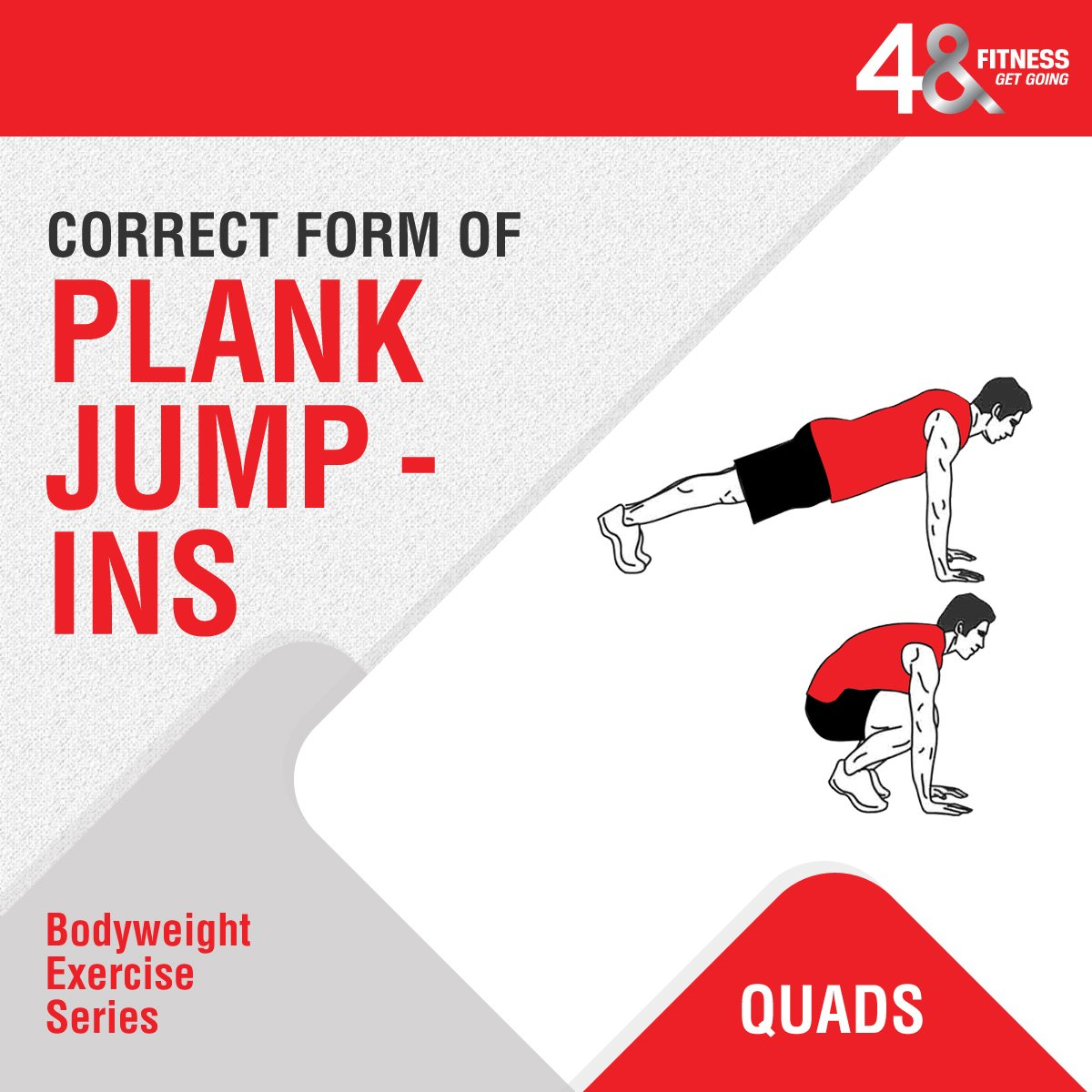Target #abs, #quads, #hips with easy step-by-step expert instructions for plank jump-ins only at #48Fitness. What's more, you can now avail 13 different Group Classes absolutely complimentary with your club membership. Enroll today. . . . #fitnessfam #fitnessjunkie <br>http://pic.twitter.com/fTzhugWxMY