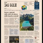 Image for the Tweet beginning: La #primapagina del Sole 24