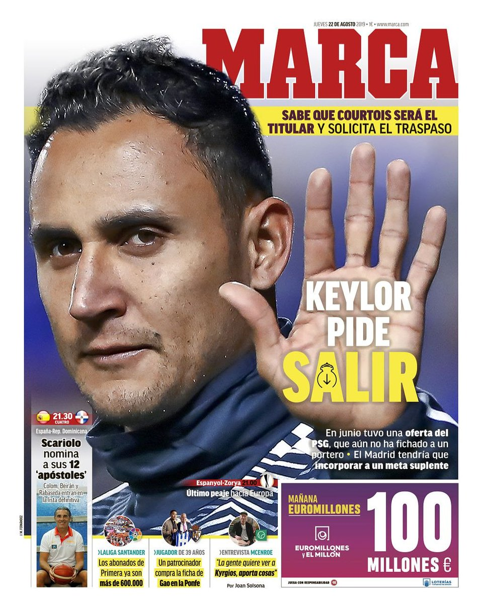 Keylor Navas demande à partir du Real Madrid !#Mercato #realmadrid #football #Algerie #algerien #algerienne #DZ #123vivalalgerie #lesverts