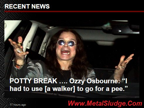 "POTTY BREAK .... @OzzyOsbourne: ""I had to use [a walker] to go for a pee."" #Ozzy #OzzyOsbourne #Pee #Walker #PeeBreak #Alamo @RollingStone @BLABBERMOUTHNET #MetalSludge  https://t.co/R16E4xX0d6 https://t.co/I0K2BRZDzp"