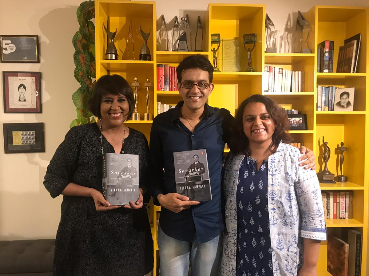 My guest this week on #BehasWithBarkha is @vikramsampath who is out with a new biography on Savarkar. Our interview releases today on @themojo_in and is a must watch conversation on Hindutva, Gandhi, Colonialism and more... Dont miss it @PenguinIndia @PreetiMarketINK<br>http://pic.twitter.com/BJI4oN0wla