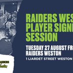 Image for the Tweet beginning: Join us at Raiders Weston