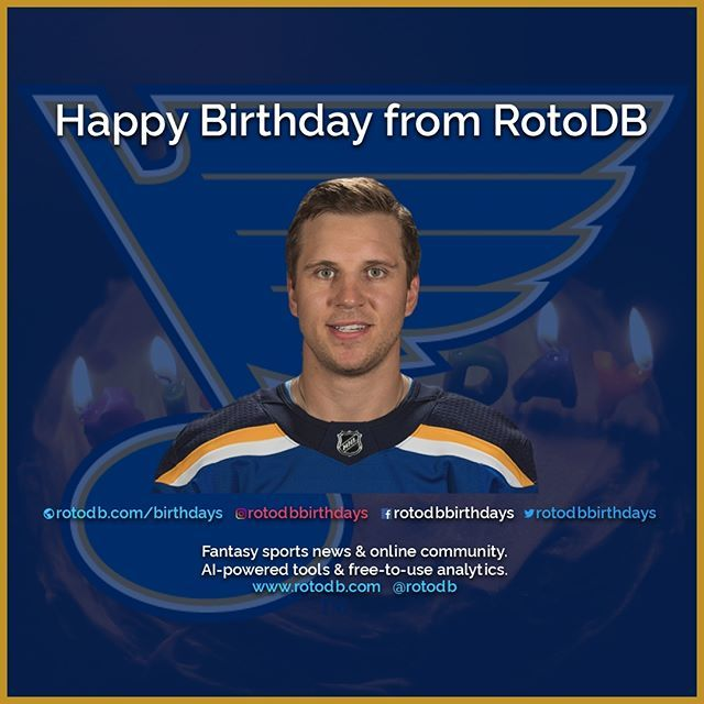 https://t.co/whwluPdGN4 Happy 28th Birthday Brayden Schenn (St. Louis Blues) from @rotodb #HappyBirthday #HBD #Birthday #CakeDay #Sports #Fantasy #FantasySports #NHL #NationalHockeyLeague #Hockey #FantasyHockey #AllTogetherNowSTL #STL #StLouis #StLouisBlues #STLBlues #Blues @St… https://t.co/9ouh0d9R8R