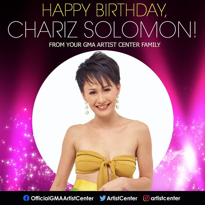 Happy Birthday to star and co-host, Chariz Solomon!
