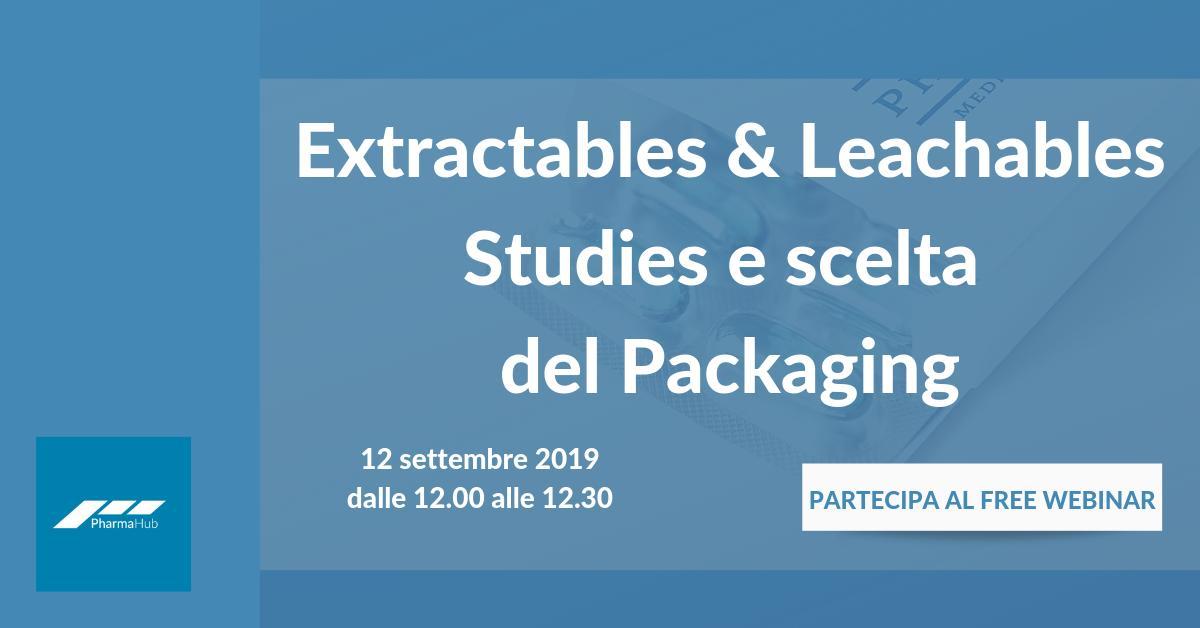 #Extractables & #Leachables Studies e scelta del #Packaging https://t.co/4cSxRD7fm9  #formazione #freewebinar #webinar #packaging https://t.co/vdSdGHZmee